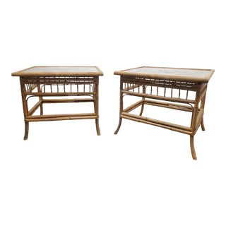 Vintage Bamboo End Tables - a Pair For Sale