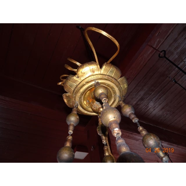 18th Century Venetian Gilt Wood Chandelier For Sale In New Orleans - Image 6 of 13