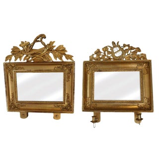 19th Century Pair of Swedish Gilded Mirrors For Sale