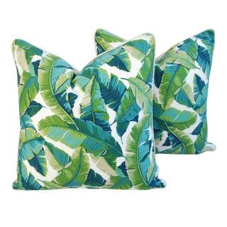 Tropical Banana Leaf Pillows - A Pair