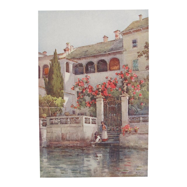 1905 Ella du Cane Print, Villa Garden, Lago D'Orta - Image 1 of 5