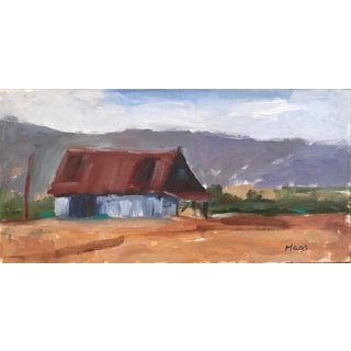 """Suisun Valley Barn"" Contemporary Plein Air Oil Painting For Sale"