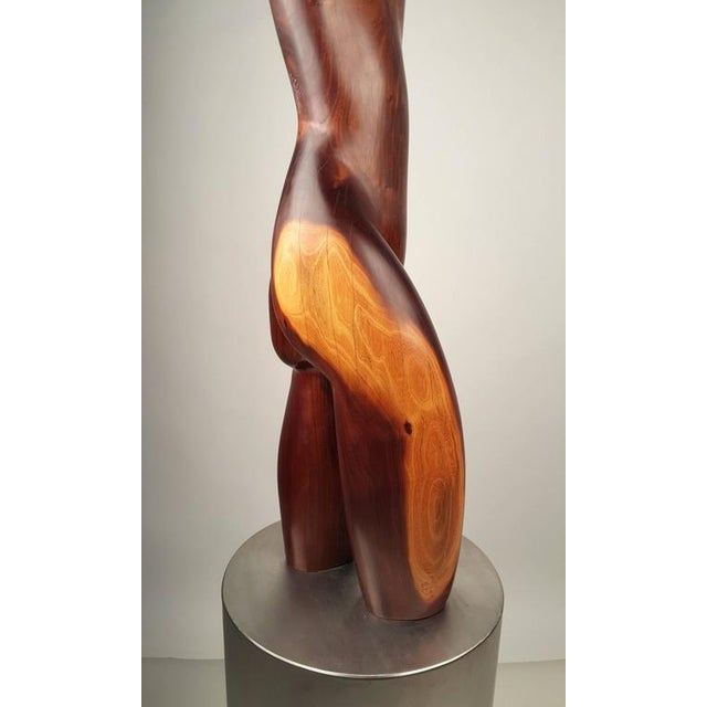 1970s Rare Solid Ebony Norman Ridenour Sculpture For Sale - Image 5 of 10