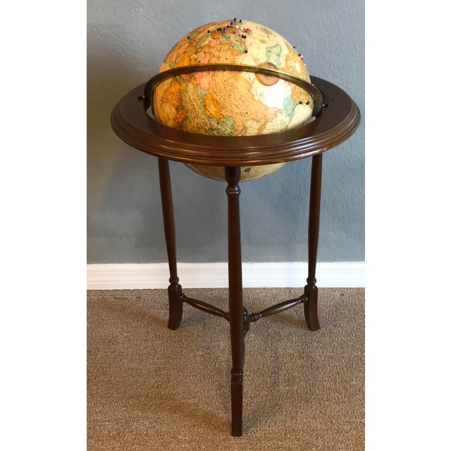 Vintage World Globe For Sale In West Palm - Image 6 of 7