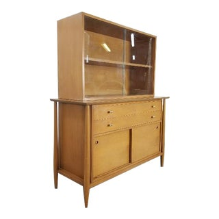 1960s Mid-Century John Stuart China Sideboard Cabinet For Sale