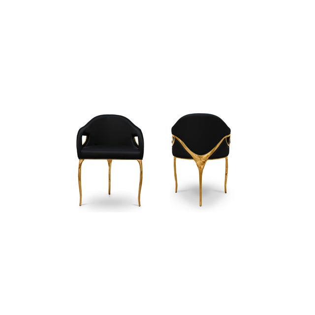 Not Yet Made - Made To Order Chandra Dining Chair From Covet Paris For Sale - Image 5 of 5