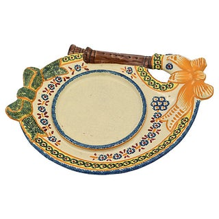 Vintage French Quimper Cheese Dish Preview