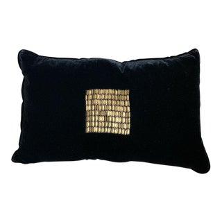 Talini Italian Beaded Velvet Pillow For Sale