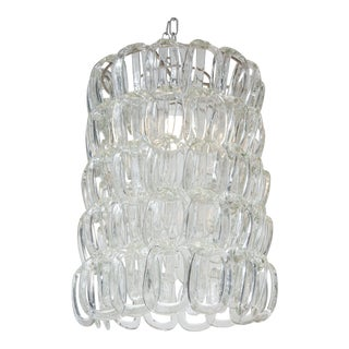 1970s Giogali chandelier by Angelo Mangiarotti for Vistosi For Sale