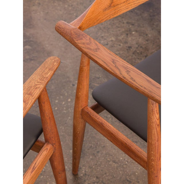 Set of Four Wegner CH-35 Armchairs - Image 8 of 11