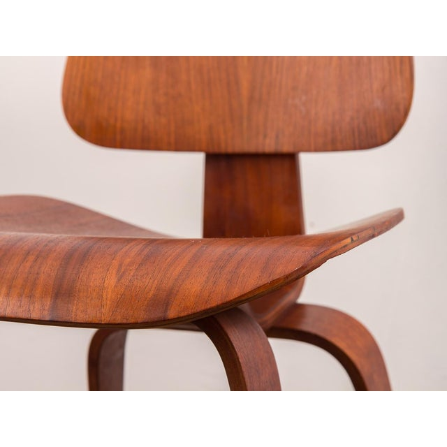 Early Eames Walnut Dcw Chairs for Herman Miller - a Pair For Sale - Image 9 of 12