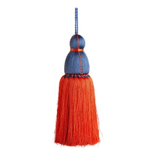 Navy & Orange Tassel, Large For Sale