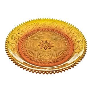 Amber Glass Tray