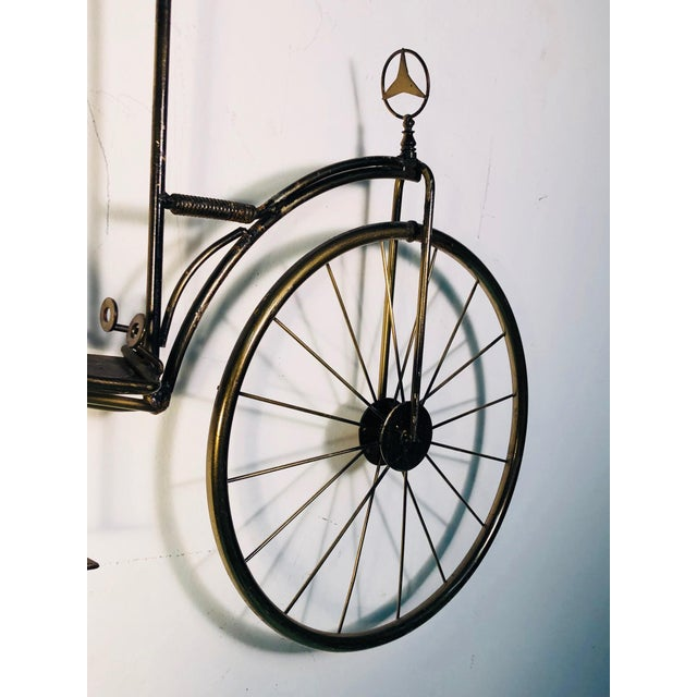 Brass Large Scale Curtis Jere Bicycle Wall Sculpture For Sale - Image 7 of 10