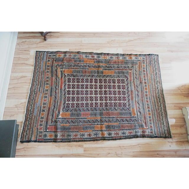 Vintage Turkish Kilim Rug - 3′11″ × 6′2″ - Image 7 of 7