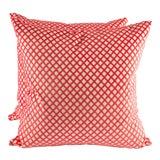 """Image of 22"""" X 22"""" Velvet Scalamandre Pomfret Down Pillows For Sale"""