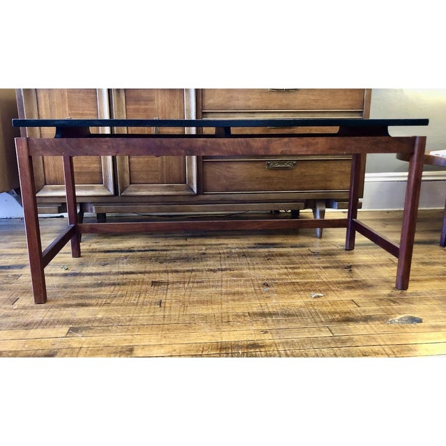 Vintage Jens Risom Walnut Console Table 1960's For Sale In Boston - Image 6 of 6