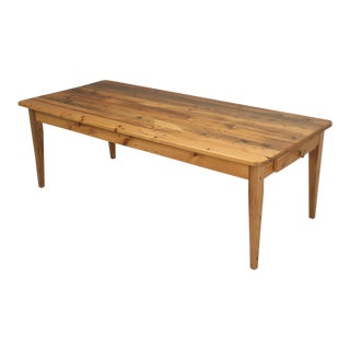 English Pine Farm Table From Main Pine Company