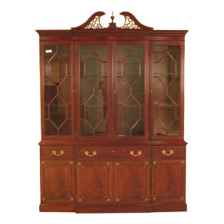 Kittinger Richmond Hill Collection Mahogany Breakfront