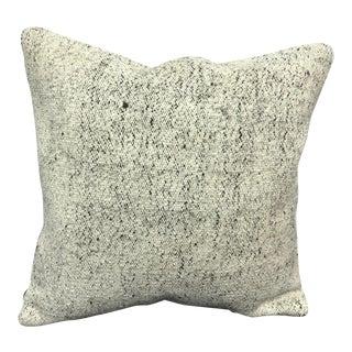 Turkish White Anatolian Handmade Wool Pillow For Sale