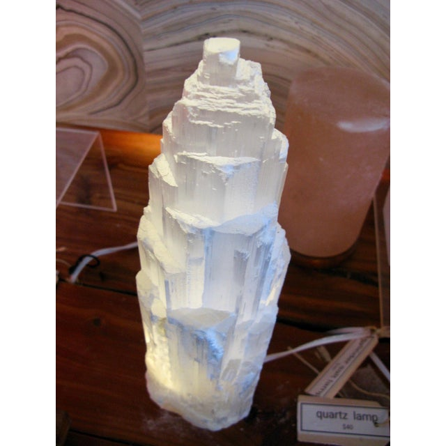 Contemporary Selenite Lamp Skyscraper For Sale - Image 3 of 7
