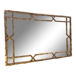 Tommy Bahama Hollywood Regency Style Faux Bamboo Mirror For Sale