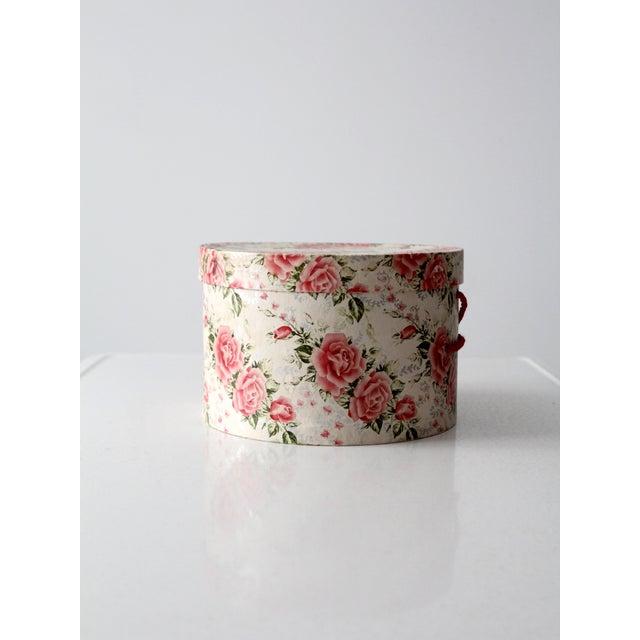 Vintage Floral Hat Box - Image 4 of 8
