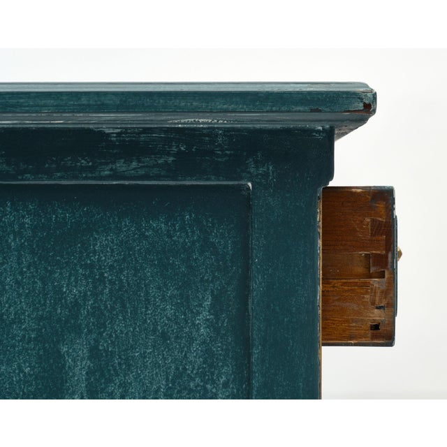 Antique Directoire Style Teal Buffet For Sale In Austin - Image 6 of 10