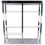 """Image of Paul Evans """"Cityscape"""" Display Shelf in Chrome and Glass For Sale"""