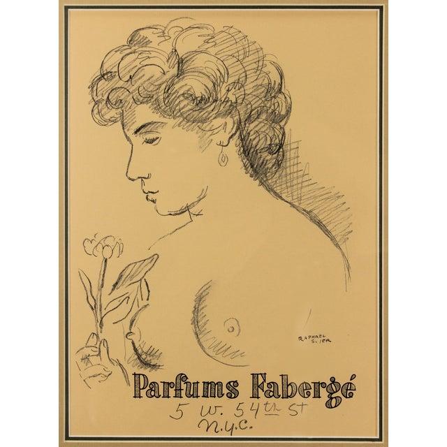 Raphael Soyer 1954 Original Print for Faberge - Image 3 of 4