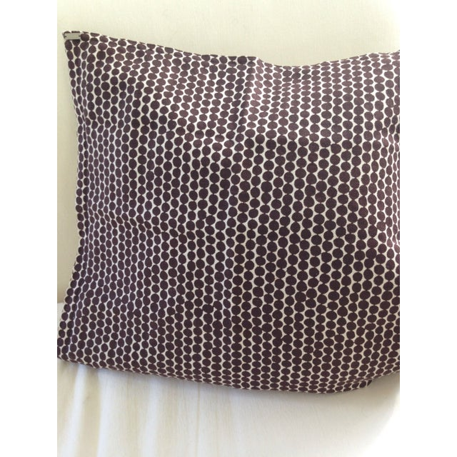 Hable Construction pillow covers in espresso bead wheat linen will liven up a room with it's graphic detail. Please note,...