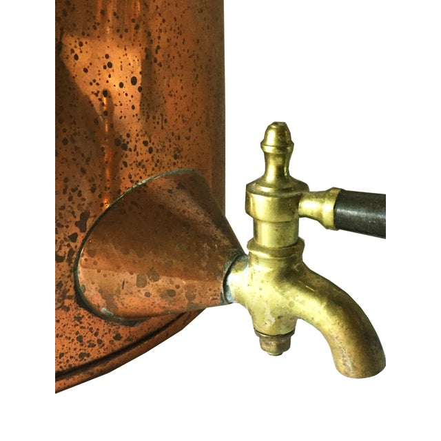 Antique Copper & Brass Drink Dispenser For Sale - Image 5 of 6