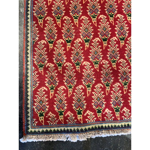 Textile Persian Hand-Tied Wool Mir Runner Rug - 2″ × 11″ For Sale - Image 7 of 9