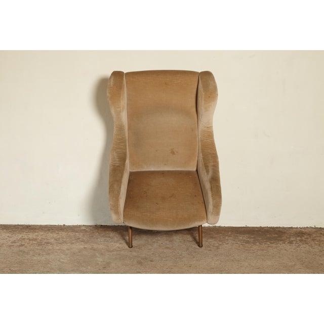 Tan Marco Zanuso Senior Chair, Arflex, Italy, 1960s For Sale - Image 8 of 10