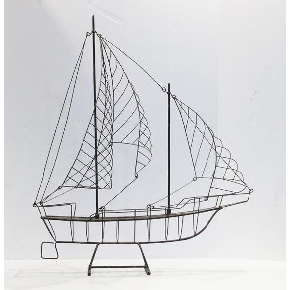 Vintage Wire Ship For Sale In Palm Springs - Image 6 of 6