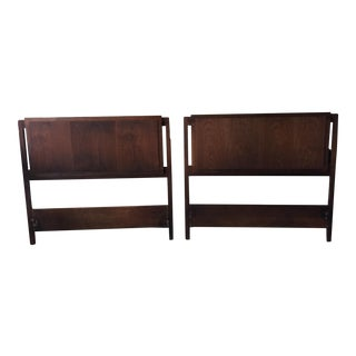 Mid-Century Twin Headboards - A Pair