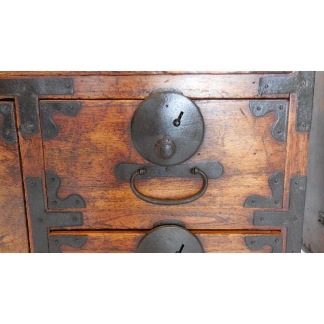 Pair of 19th Century Low Japanese Tansus, Nightstands For Sale - Image 4 of 9