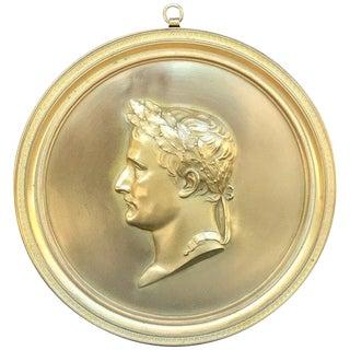 Ormolu Portrait Plaque, Napoleon as Caesar, After Bovy For Sale
