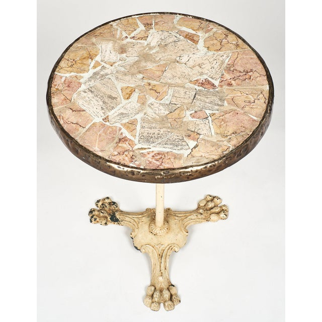 White French Vintage Bistro Table For Sale - Image 8 of 10