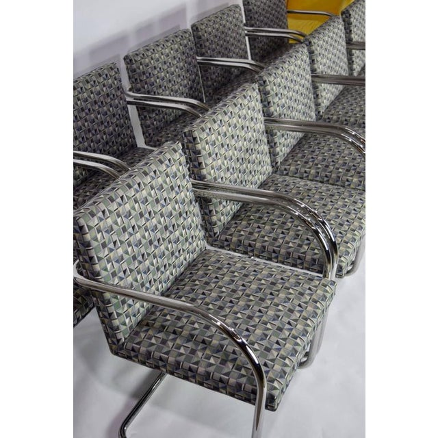 Mid-Century Modern Tubular Brno Chairs by Knoll - Set of 10 For Sale - Image 3 of 10
