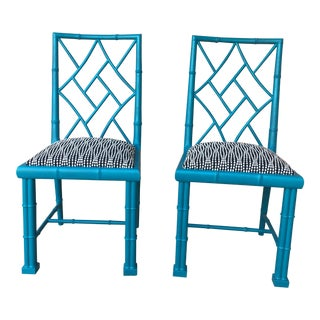 Chinoiserie Cockpen Chairs- A Pair For Sale