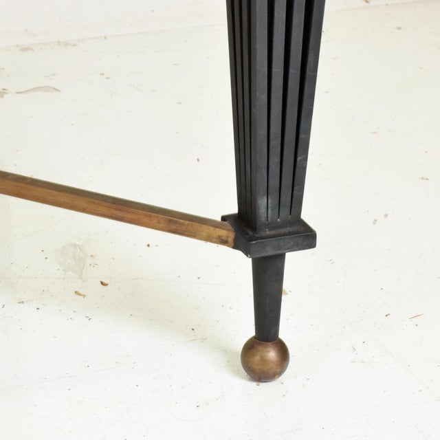 Brass Mid Century French Modernist Star Dining Table After Gilbert Poillerat For Sale - Image 7 of 10