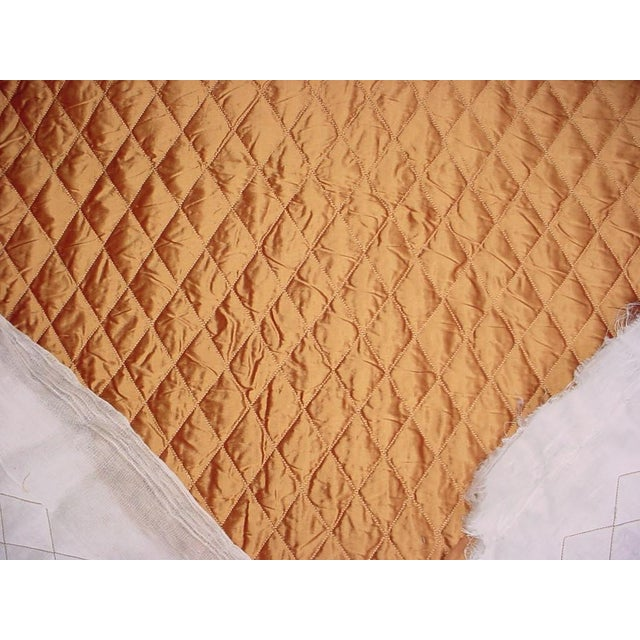 Kravet Kravet Silk Quilt Platinum Bronzy Brown Matelasse Upholstery Fabric - 4 5/8 Yards For Sale - Image 4 of 5