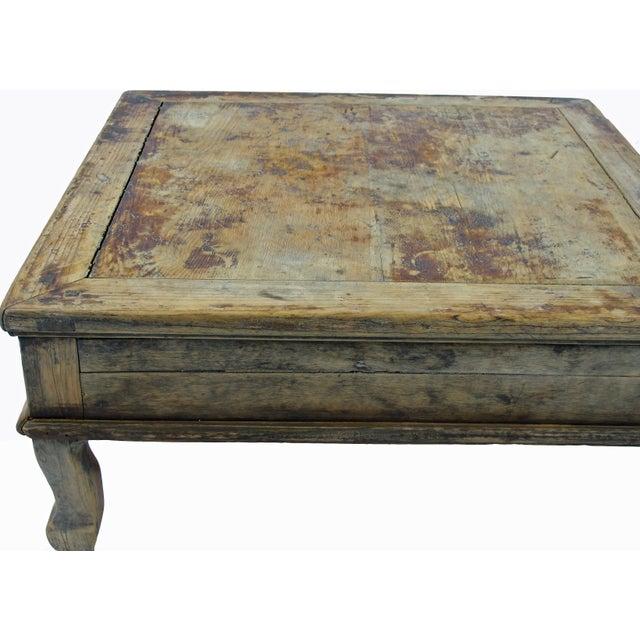 Wondrous Rustic Low Square Wood Accent Table Creativecarmelina Interior Chair Design Creativecarmelinacom