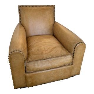 Modern Ralph Lauren Colorado Leather Armchair For Sale