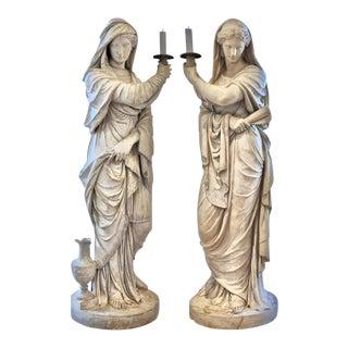 Pair of Period 18th Century George III Coade Sculptures by Elizabeth Coade, ca 1788