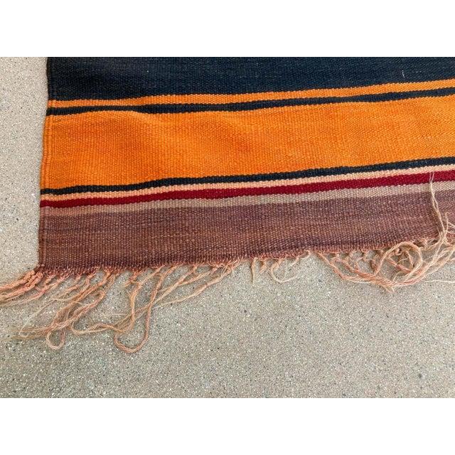 Moroccan Vintage Flat-Weave Stripe Kilim Rug For Sale - Image 12 of 13