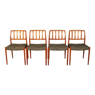 Niels Møller No. 83 Danish Teak Dining Chairs - Set of 4 For Sale