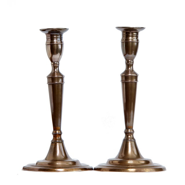 18th Century English Bell Metal Candlesticks - a Pair - Image 2 of 6