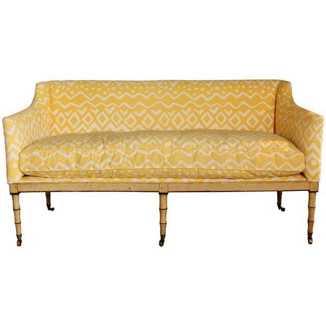 19th Century English Upholstered Sofa or Bench For Sale - Image 9 of 9